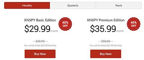 XNSPY App Cost