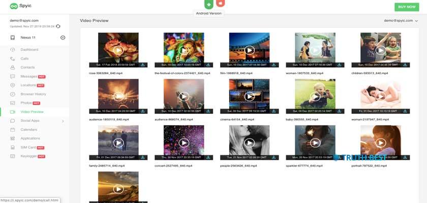 Spyic Multimedia files Step 2