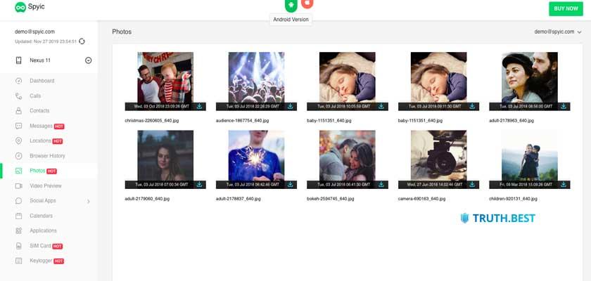 Spyic Multimedia files