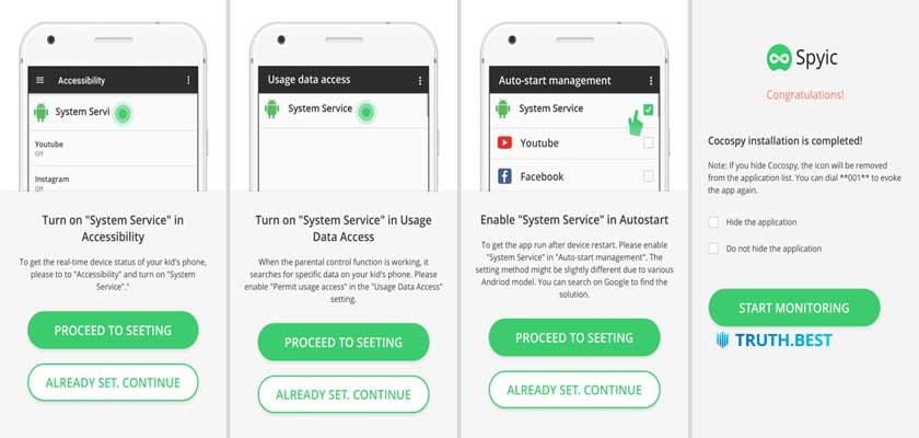 Step 2 Install Spyic app on your target Android step 3